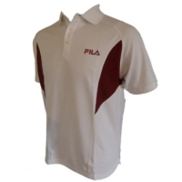 Fila Polo Shirt - Medium - White, Tennis Polo