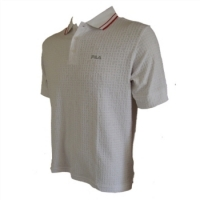 Fila Polo Shirt - Large, White, X-Static Fibres